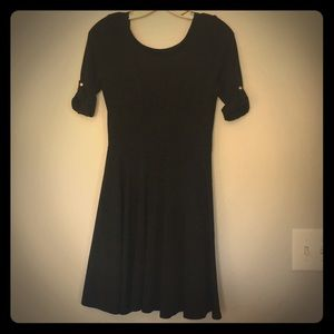 Express Black Low Back Dress